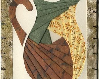 Handmade Thinking of You Greeting Card - Iris folded Pitcher v.5