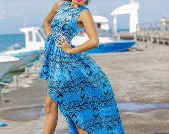 asymmetrical dress in loincloth