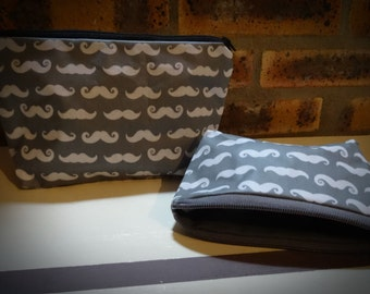 Great Kit-wallet grey with whiskers (great size)