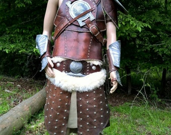 Cosplay Skyrim Dovahkiin Leather Armor