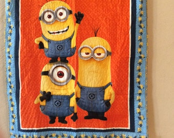 Minions crib quilt or wall hanging
