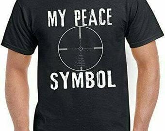 My peace symbol scope reticle - shirt