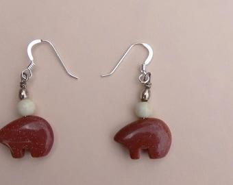 Bears in the woods earrings