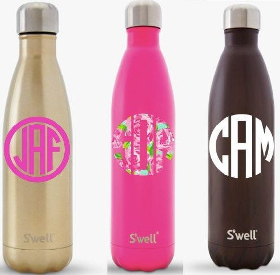 monogram colorful Swell bottle