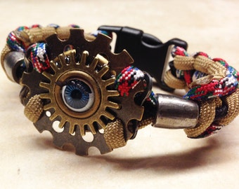 Seeing Eye Steampunk Paracord Bracelet