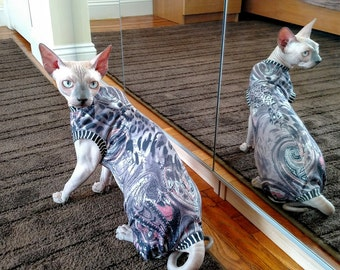 Cat clothes Size SMALL/cat overalls /cat shirt/ cat sweater/pet sweater/Sphynx cat clothes/Sphynx clothing /cats clothes/ shirt for cat
