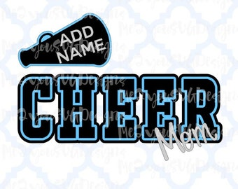 Cheer Mom with Megaphone SVG,EPS,PNG,Studio