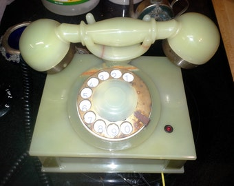 Green Onyx Rotary Telephone