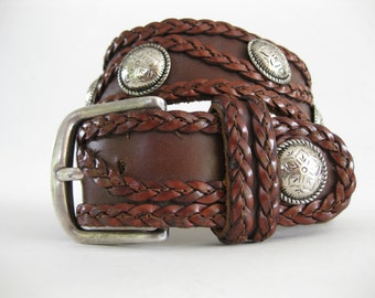 French Designer Zoe Coste - Paris, France Leather Belt with Studs