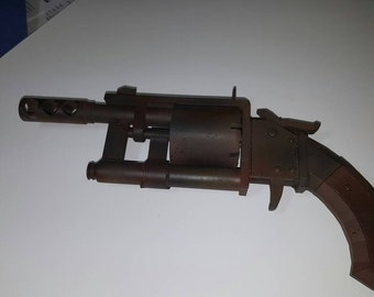 3D Printed FallOut 4 Pipe Revolver Blaster (painted)