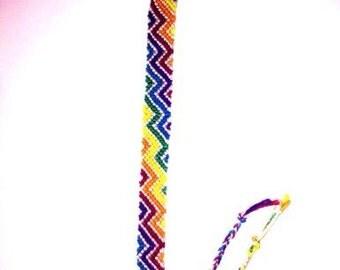 Rainbow, zig zag, friendship bracelet
