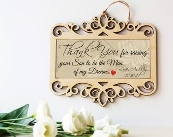 Wedding sign-Mother of the Groom gift-Father of the Groom gift-Parents of the Groom-Gift from Bride-Mother in law gift-Father in law gift