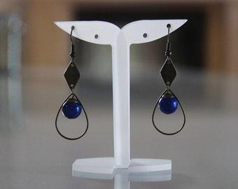 Graphic Blue night/earrings earrings