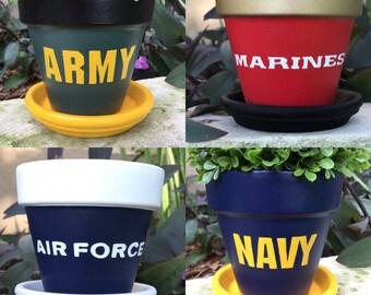 U. S. Military Flower Pots