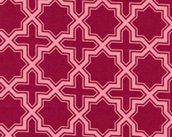 Joel Dewberry Fabric SALE, Modern Meadow Napsack in Berry - HALF YARD