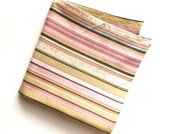 Pastel Striped Pocket Square