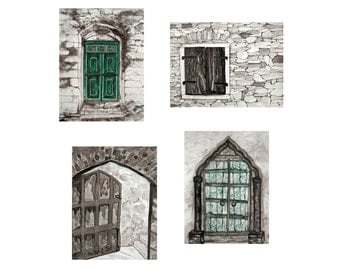 Doors and Window Collection Prints