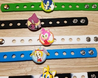 10  Lovely Sonic Silicone Bracelets Party Favors
