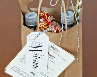 Printable Wedding Welcome Bag Tags, Printable Welcome Tag Templates - INSTANT DOWNLOAD