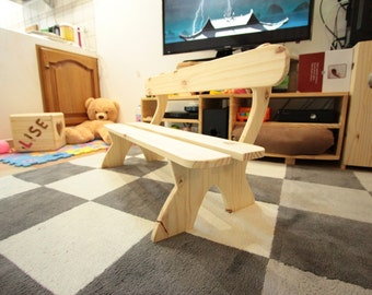 Bench for children in solid pine