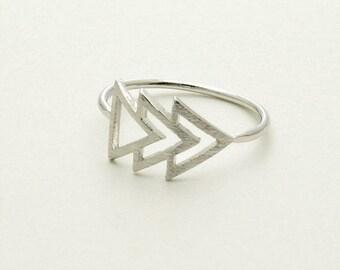 Silver 'Forward' Ring Size Uk Size' 'K'