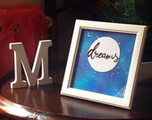 Original Galaxy Art. Framed *WORD* personalised and unique artwork