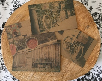 Bicycle Postcards // bicycle theme // 4x6 // postcard // bicycle postcard // postcards