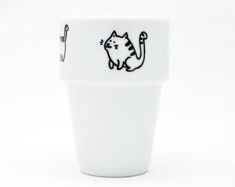 Meow! - handpainted little mug