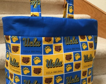 UCLA, tote, handmade