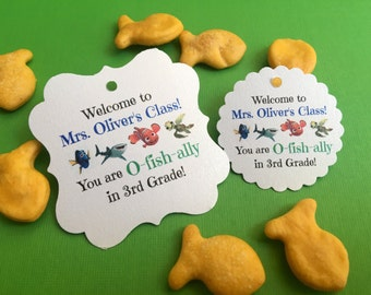 Back to school favor tags, teacher gifts, welcome to class