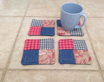 Blue and Red Coasters