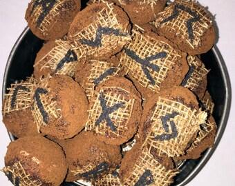 Primitive Bowl Filler,Rustic Primitive Decor,Folk Farmhouse Egg Decor,Rustic Decorative Eggs,Country Prim Rune Eggs, Grubby Cabin Decor