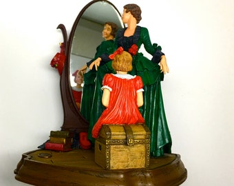 """Limited Edition: Norman Rockwell Figurine, """"A Young Girls Dream"""", From Norman Rockwell Family Trust - 1992"""