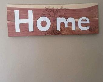 "Handmade ""home"" wall hanging"