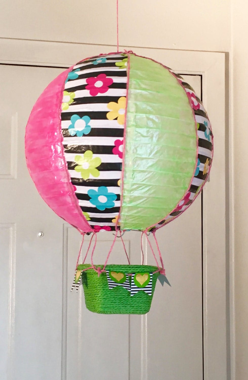 12 hot air balloon party decorations kids room decor for Air balloon decoration