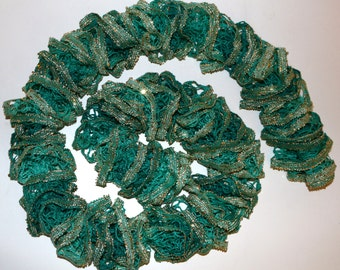 Turquoise and Gold Web Scarf