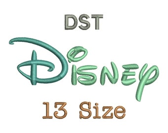 Disney Embroidery Font - 13 Size Monogram Fonts DST File Format Machine Embroidery Fonts Design -  Instant Download