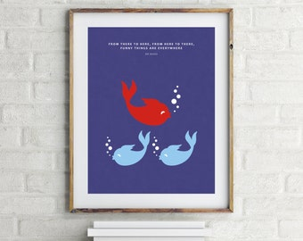 1 Fish 2 Fish Red Fish Blue Fish - Dr Seuss
