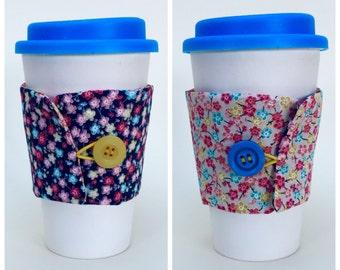 Reversible coffee cup sleeve aka 'coffee buddy'