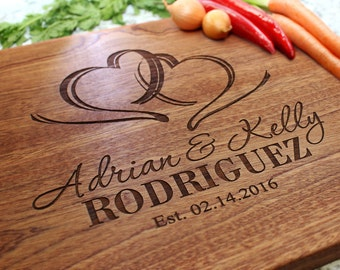 Personalized Cutting Board - Engraved Cutting Board, Custom Cutting Board, Wedding Gift, Housewarming Gift, Anniversary Gift W-027 GB