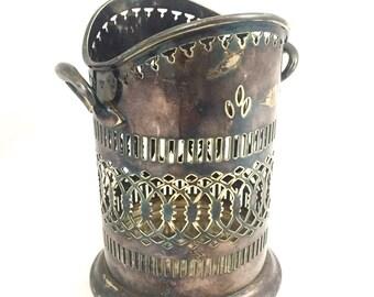Antique Silver Wine Holder