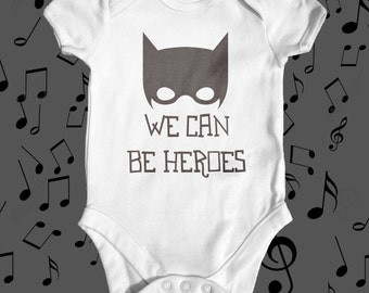 Heroes David Bowie Parody Baby Bodysuit | Cute Baby Clothes | Baby Shower Gift | Music Baby Bodysuit | Hero Baby Bodysuit | Newborn Baby
