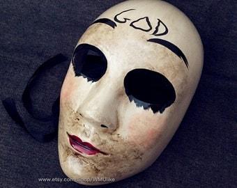 The Purge Mask Halloween Costume unisex full face Anarchy mask Purge Movie God Mask