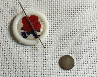Needle minder - hand pressed flower