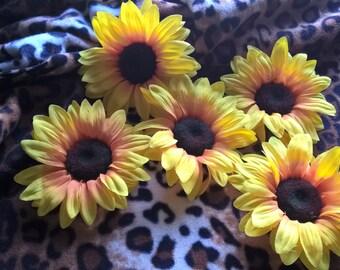 Sunflower Hair Flower