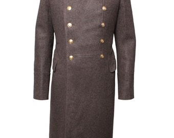 Soviet military Everyday brown overcoat of Russian Officers