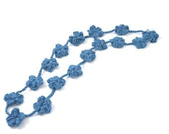 Amada-strand necklace/long necklace/sugar paper/flower