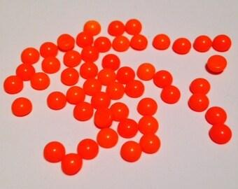 50 Orange Flat Back Cabochons SS16