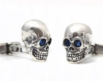 Sterling Silver Skull cufflinks NEW
