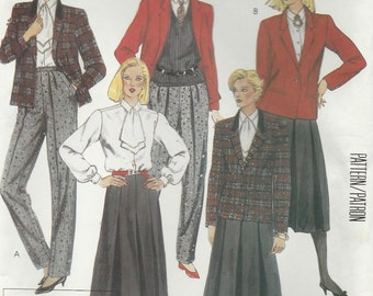 McCalls Pattern 2160 Size 12 Designer Blouse, Jacket, Skirt and Pants